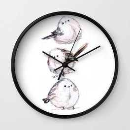 borbs of a feather Wall Clock