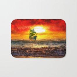 Black Pearl Pirate Ship Bath Mat