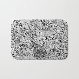Textured White Bath Mat