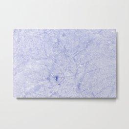 Ice Blue Marble Metal Print
