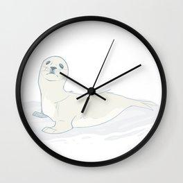 Seal Pup Wall Clock