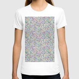 Cyberatomic flower pattern T-shirt