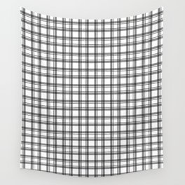 Black and white checkered pattern 2 Wall Tapestry