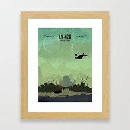 LV-426 // Hadley's Hope, Aliens, Ellen Ripley, Alien Poster, Newt, Xenomorph, HR Giger Framed Art Print