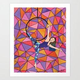 Bright Geometric Aerialist Art Print