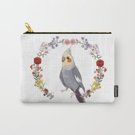 Cockatiel Wreath Carry-All Pouch