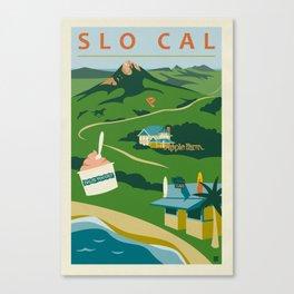 Retro San Luis Obispo Poster Canvas Print