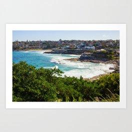 Sydney Coastline Art Print