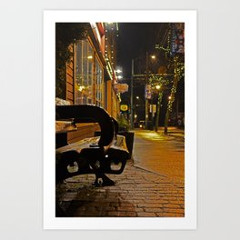 Lonely Bench Art Print