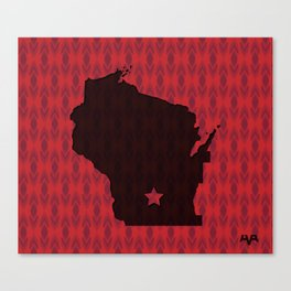 Wisconsin State Map Canvas Print