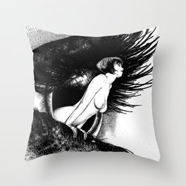 asc 602 - La spectatrice (Valentina at the gallery) Throw Pillow