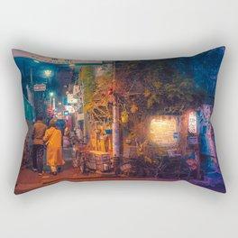 This Way - Tokyo Japan Night Photograph Rectangular Pillow
