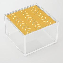 V / Yellow Acrylic Box