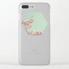 Wisteria Clear iPhone Case