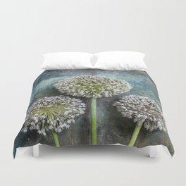 Three Allium Flowers Duvet Cover
