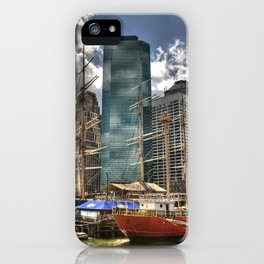 NYC Harbor, south seaport iPhone Case