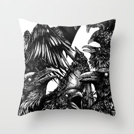 The Riot : Crows Throw Pillow