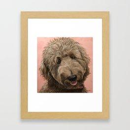 Golden Doodle Dog Art, Fun Doodle Dog Art Framed Art Print