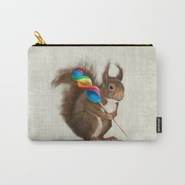 Squirrel with lollipop Carry-All Pouch