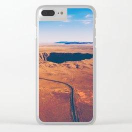 Crater vulcano Clear iPhone Case