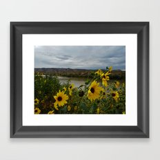 Yellow Flowers Before the Storm Framed Art Print