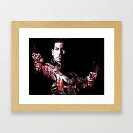 Jon Bernthal's Punisher Portrait pop Framed Art Print