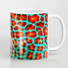 Leopard spot flowers on fabric Coffee Mug