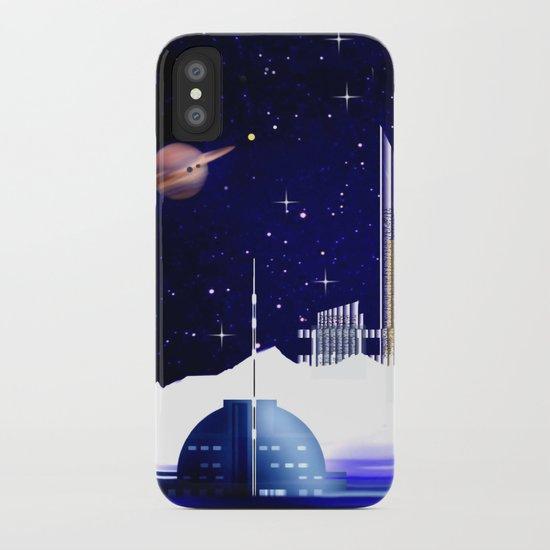 Extra-solar ice moon. iPhone Case