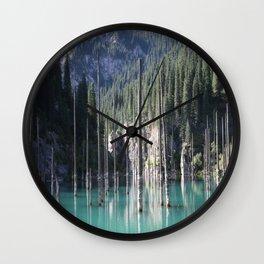 Kaindy Lake, Kazakhstan Wall Clock
