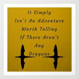 Dragon Adventure Art Print
