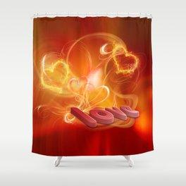 Flammende Liebe - Flaming Love Shower Curtain