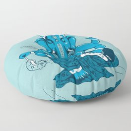 Ganesha rocks ! (v3) Floor Pillow