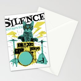 Cats - destroyer of silence Stationery Cards