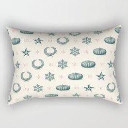 Festive Holiday Pattern Rectangular Pillow