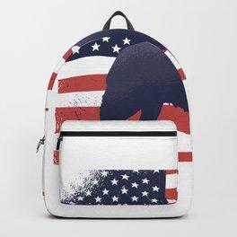 USA Flag Dog Backpack