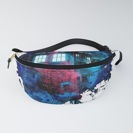 Time And Space Mist Tardis Doctor Who Fanny Pack