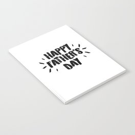 Happy Father's Day - Fun Bold Text Notebook