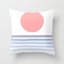 Sunset @ Sunrise (Blue) Throw Pillow