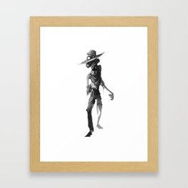 Zombie Farmer Framed Art Print