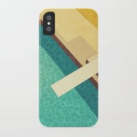 pool iPhone & iPod Cases featuring Pool by Herb Vaine
