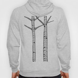 Poplar Tree Illustrated Print Hoody