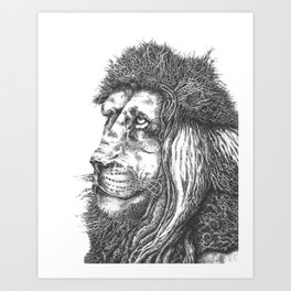 Smiling Lion Art Print
