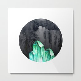 Crystal Black Moon Magic Metal Print