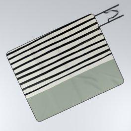 Sage Green x Stripes Picnic Blanket
