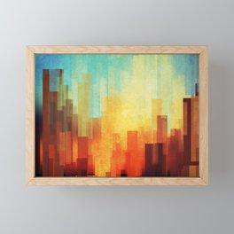 Urban sunset Framed Mini Art Print