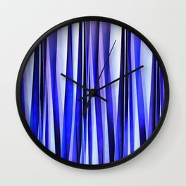 Peace and Harmony Blue Striped Abstract Pattern Wall Clock