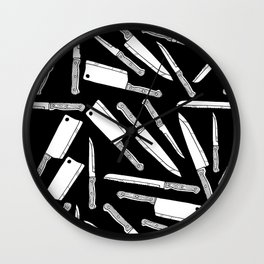Kitchen Knives Wall Clock