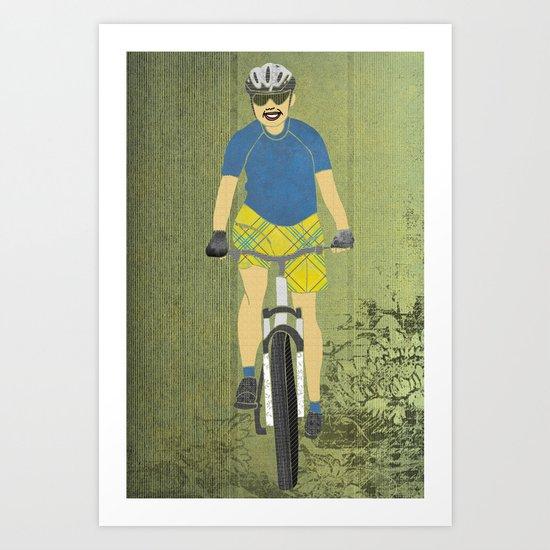 Bicycle Girl 2 Art Print