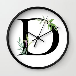 Botanical D Wall Clock