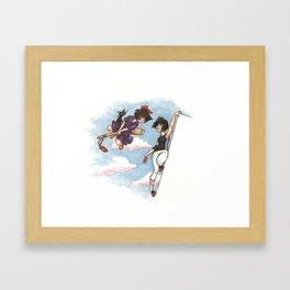 Ghibli loves video games 02 Framed Art Print